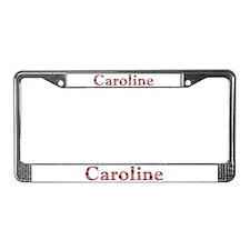 Caroline Pink Flowers License Plate Frame