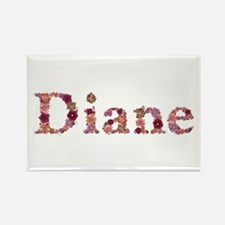 Diane Pink Flowers Rectangle Magnet
