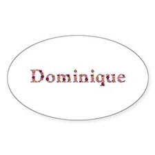 Dominique Pink Flowers Oval Decal