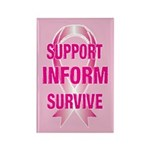 SIS Breast Cancer Rectangle Magnet