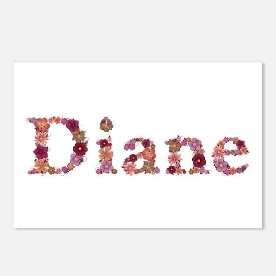 Diane Pink Flowers Postcards 8 Pack