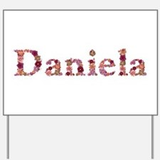 Daniela Pink Flowers Yard Sign