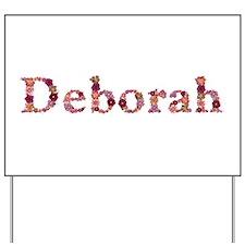 Deborah Pink Flowers Yard Sign