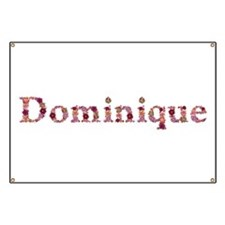 Dominique Pink Flowers Banner