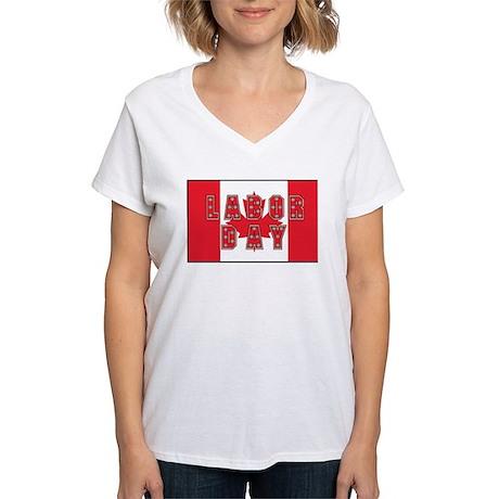 Canada Labor Day Women's V-Neck T-Shirt