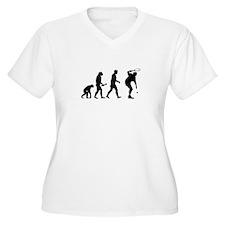 Tennis Player Evolution Plus Size T-Shirt