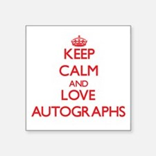 Keep calm and love Autographs Sticker