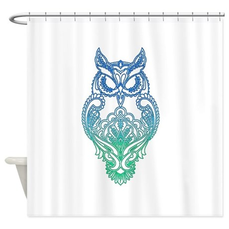 Owl Shower Curtain By Stencilzoo