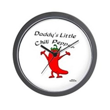 Daddy's Little Chili Pepper Wall Clock