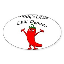Daddy's Little Chili Pepper Oval Decal