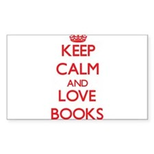 Keep calm and love Books Decal