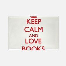 Keep calm and love Books Magnets