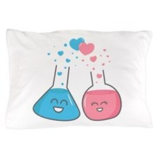 Cute flasks in love, weve got chemistry Pillow Cas