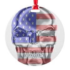 Patriotic Skull Ornament