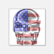 Patriotic Skull Sticker