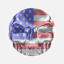 """Patriotic Skull 3.5"""" Button"""