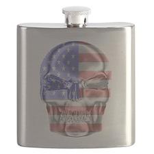 Patriotic Skull Flask