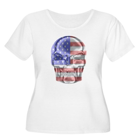 Patriotic Skull Plus Size T-Shirt