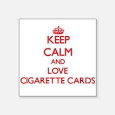Keep calm and love Cigarette Cards Sticker