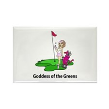 Goddess of Golf Rectangle Magnet (10 pack)