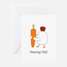 Dancing Chef Greeting Cards