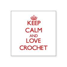 Keep calm and love Crochet Sticker