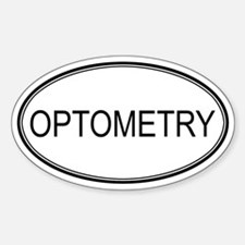 OPTOMETRY Oval Decal