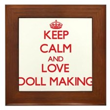 Keep calm and love Doll Making Framed Tile