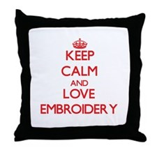 Keep calm and love Embroidery Throw Pillow