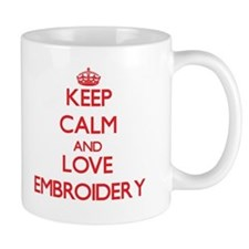 Keep calm and love Embroidery Mugs