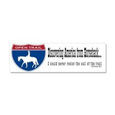 Open Trail Trailer Car Magnet 10 X 3