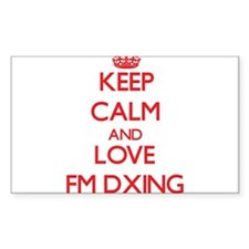 Keep calm and love Fm Dxing Decal
