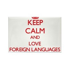 Keep calm and love Foreign Languages Magnets