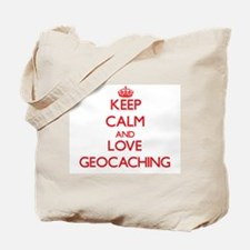 Keep calm and love Geocaching Tote Bag