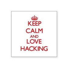 Keep calm and love Hacking Sticker