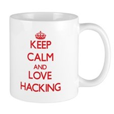 Keep calm and love Hacking Mugs