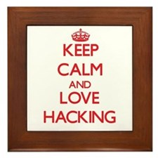 Keep calm and love Hacking Framed Tile