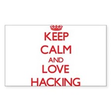 Keep calm and love Hacking Decal