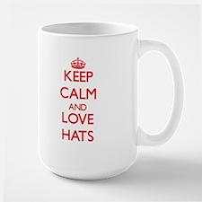 Keep calm and love Hats Mugs