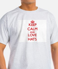 Keep calm and love Hats T-Shirt
