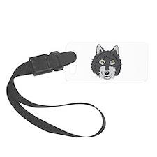 Wolf Head Luggage Tag