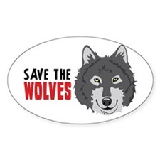 Save The Wolves Decal