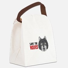 Save The Wolves Canvas Lunch Bag