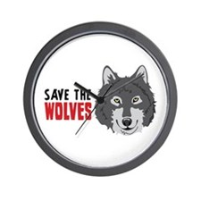 Save The Wolves Wall Clock