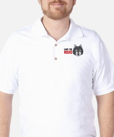 Save The Wolves Golf Shirt