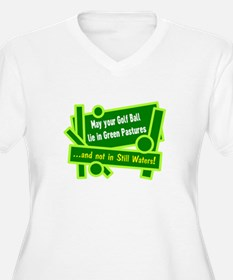 Golf Ball In Green Pastures Plus Size T-Shirt