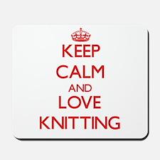 Keep calm and love Knitting Mousepad