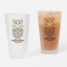 Tribal Owl Drinking Glass