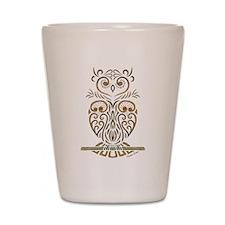 Tribal Owl Shot Glass