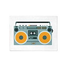 Radio Cassette Player 5'x7'Area Rug